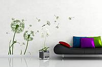 Интерьерная виниловая наклейка на стену Red Dandelion 65х96 см Зеленая