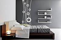 Интерьерная виниловая наклейка на стену Red Ring abstraction 30х96 см Белая