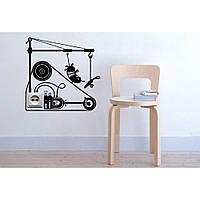 Дизайнерская наклейка стикер на стену, плитку, обои, мебель Red Socket 3 40х40 см Черная