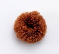 Гумка для волосся хутряна пухнаста (колір шоколад), фото 1