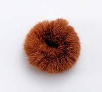 Резинка для волос меховая пушистая (цвет шоколад), фото 1
