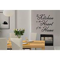 Красивая наклейка в интерьер кухни, прихожей, зала Red Kitchen 70х70 см Черная