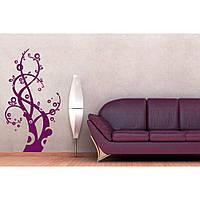 Красивая наклейка в интерьер кухни, прихожей, зала Red Fantastic tree 50х96 см Фиолетовая