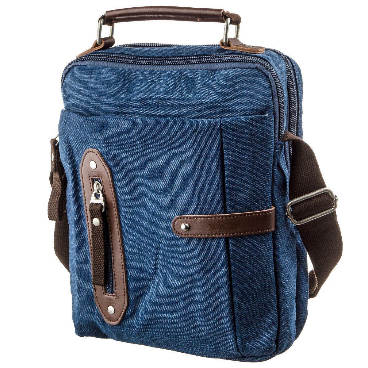Сумка вертикальная текстильная Vintage 20156 Синяя