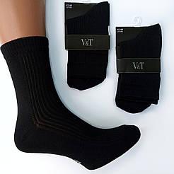 """Мужские классические демисезонные носки V&T socks """"Рубчик"""""""