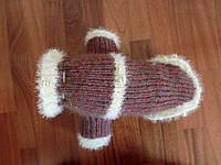 """Теплый вязаный свитер для собаки """"Басси"""""""