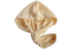 Чалма для сушки волос из бамбукового волокна