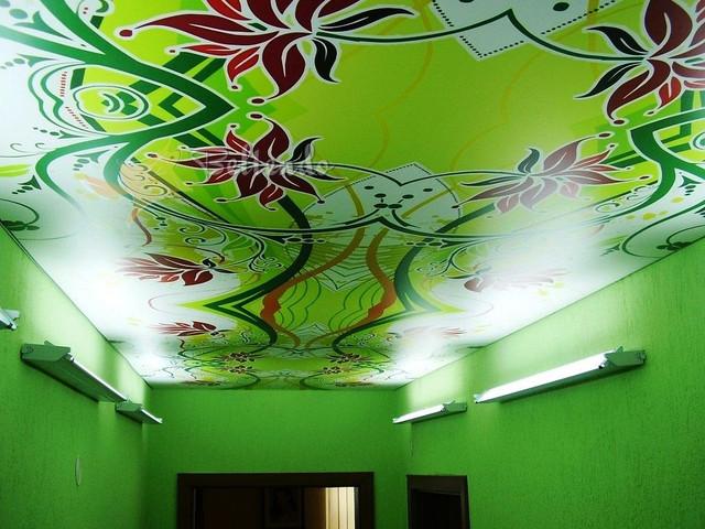 Печать на натяжных потолках