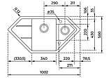 Гранитная мойка Тека ASTRAL 80 Е-TG 98*50 песочная, фото 3