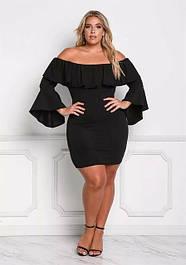 XL+ платья (короткие, миди)