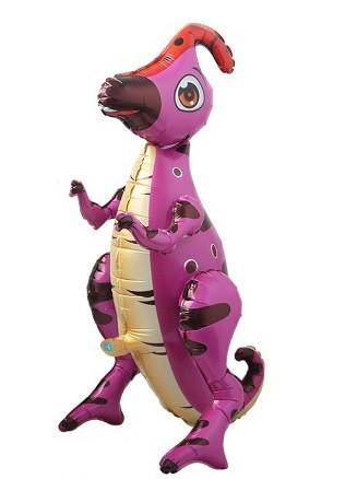 """Шар-ходячка """"Паразауролоф розовый""""  Размер:66см*60см."""