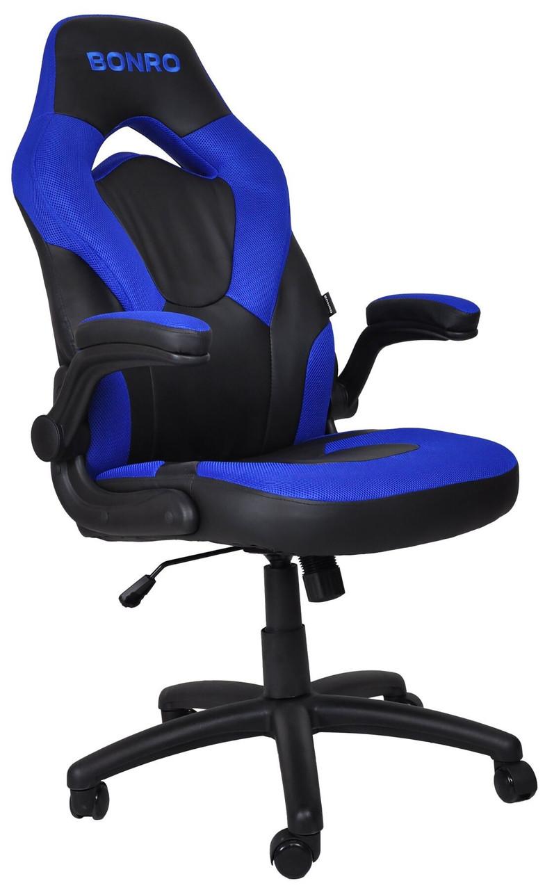 Кресло игровое геймерское Bonro B-office 2 синее