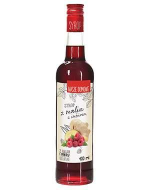 Малиновый сироп с имбирем 400 мл, Premium Rosa