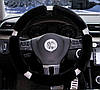 Чехол на руль меховой со стразами (черный) (размер согласовуйте перед оформлением)