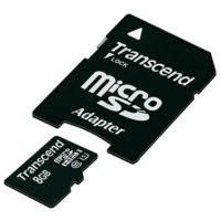 Карта памяти Transcend Micro SDHC Premium 8Gb class 10 UHS-I +SD adapter USB