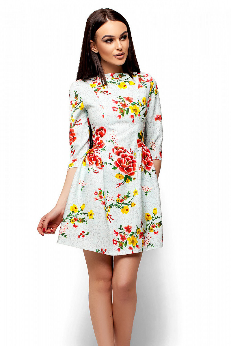 S, M, L   Миле жіноче плаття в квіти Sivil