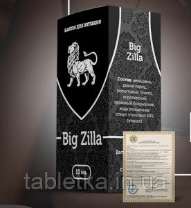 Капли для повышения потенции Биг Зилла Big Zilla
