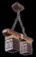 Люстра-подвес двойной на 2 плафона в стиле Лофт 840812