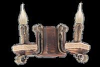 Деревянная бра на 2 свечи в стиле Лофт 533322