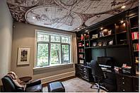 Натяжной потолок с печатью в кабинете