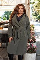 Женский тренч, плащ женский, пальто осеннее демисезонное большие размеры