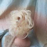 Резинка шиньон из натуральных волос жемчужный блонд SEGA- 60, фото 2