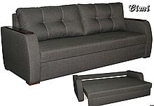 Диван-еврокнижка с ортопедическич матрасом СИТИ Спальный диван для повседневного сна Софа Серый