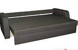 Диван-еврокнижка с ортопедическич матрасом СИТИ Спальный диван для повседневного сна Софа Серый, фото 3