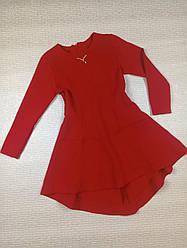 Красное платье-туника на девочку. На рост 122 128 134 140см Украина 140