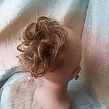 Резинка шиньон из натуральных волос русый SEGA- 6, фото 3