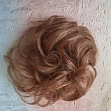 Резинка шиньон из натуральных волос русый SEGA- 6, фото 2
