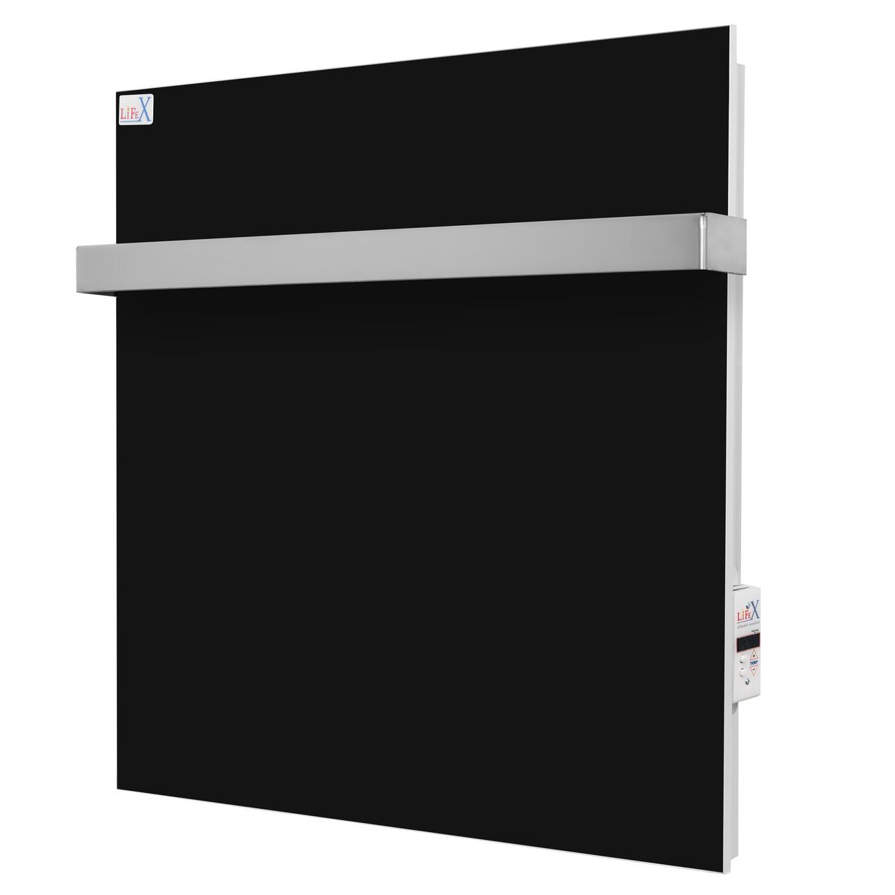 Керамический полотенцесушитель для ванной LifeX ПСК 400 чёрный (с программатором)
