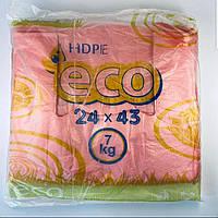 """Пакеты майка фасовочные """"Эко"""" полиэтиленовые 24x43 см, 200шт / уп. (Пакет поліетиленовий фасовка)"""