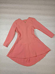 Розовое платье-туника на девочку. На рост 122 128 134 140см Украина