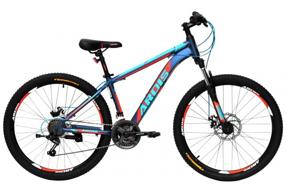 """Гірський велосипед Ardis COLT R27,5"""" 17"""" алюмінієвий з дисковими гальмами (Синьо-червоний)"""