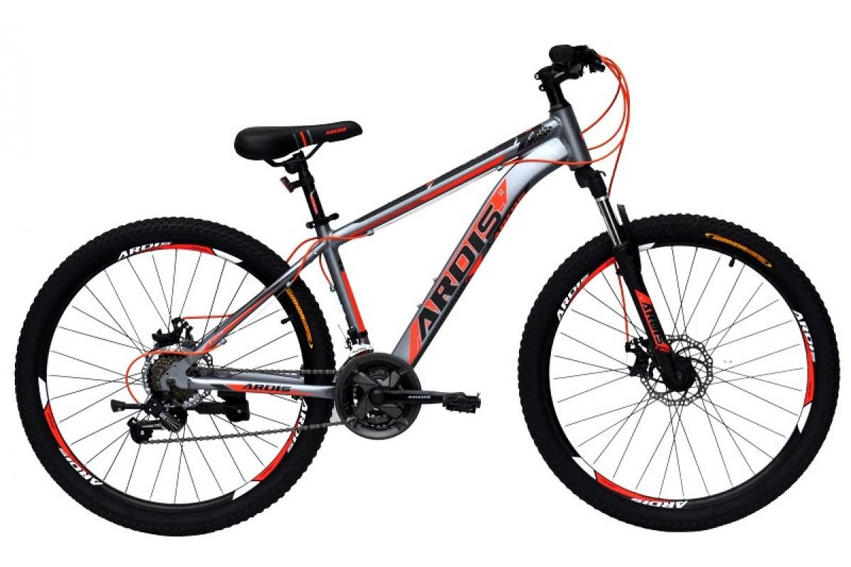 """Горный велосипед Ardis COLT 27,5"""" алюминиевый с дисковыми тормозами, Серо-красный"""