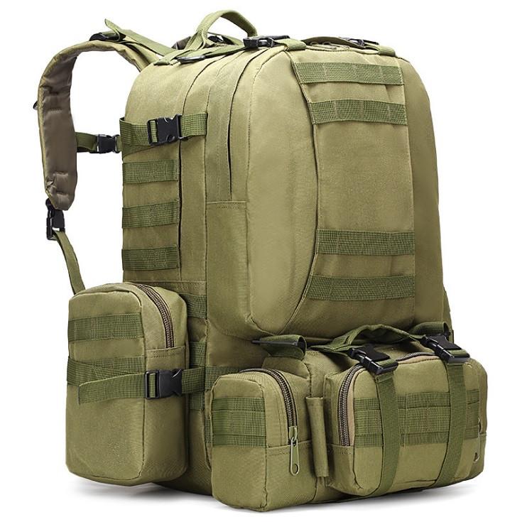 Рюкзак тактичний Tactical великий з підсумкими 55л олива