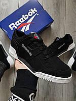 Мужские кроссовки Reebok Black/White, фото 1