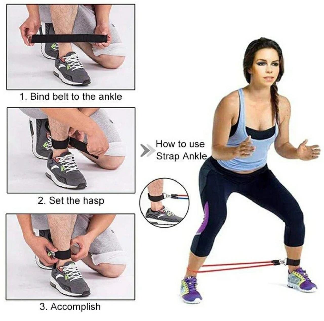 Комплект эспандеров для фитнеса Treaning Pro, 5 уровней сложности, чехол в комплекте