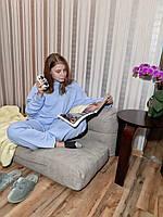 Костюм домашний трикотаж хлопок однотонная Піжама бавовна трикотаж Пижама женская оверсайз