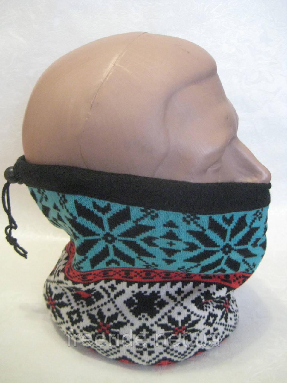 Зимний бафф, теплый шарф-труба, шапка (#558)