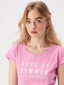 Жіноча футболка sinsay з написом days of summer need you to stay женская футболка