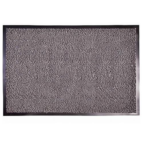 Грязезащитный коврик влаго и грязе улавливающие разрезной ворс Premium с повышеной влаговпитываемостью серый