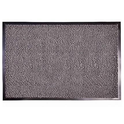 Грязезащитный коврик влаго и грязе улавливающие разрезной ворс Premium с повышеной влаговпитываемостью серый, фото 2