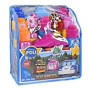 """Конструктор пластиковый """"Робокар Поли"""", 33 детали 990-003, детские конструкторы,  в сумке"""