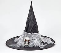 Колпак карнавальный Ведьмы с черепом и марлей, фото 1