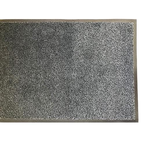 Грязезащитный коврик влаго и грязе улавливающие разрезной ворс Premium с повышеной влаговпитываемостью графит