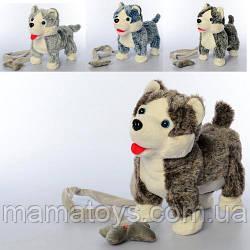 Интерактивная Собака MP 2141 Хаски 23 см С пультомдистанционного управления (поводок), , звук, ходит,