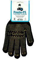 Перчатки трикотажные с ПВХ покрытием  для строительных работ. № 103 чёрные