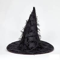 Шляпа карнавальная Ведьмочки с бахромой, фото 1